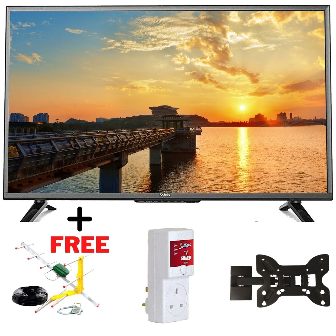 Elites Age Electronics and Furniture Supermarket- SYINIX 32 inch SMART TV With Free Aerial Antenna, TV Guard, Wall Mount